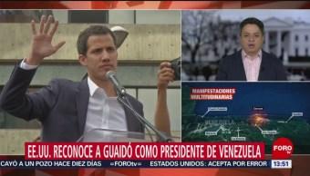 Trump da su respaldo al opositor venezolano Guaidó