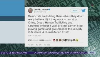 Trump insiste en que Estados Unidos necesita muro poderoso