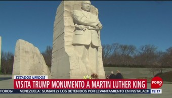 Trump Pence Visita Monumento Martin Luther King