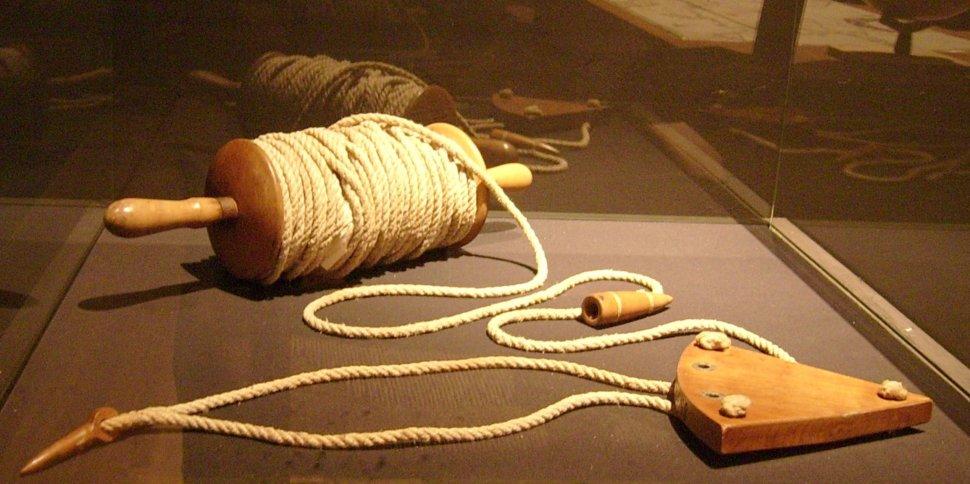 Una corredera de barquilla al estilo de las hechas en el siglo XVI, exhibida en el Museo Naval de Madrid (Wikimedia Commons)