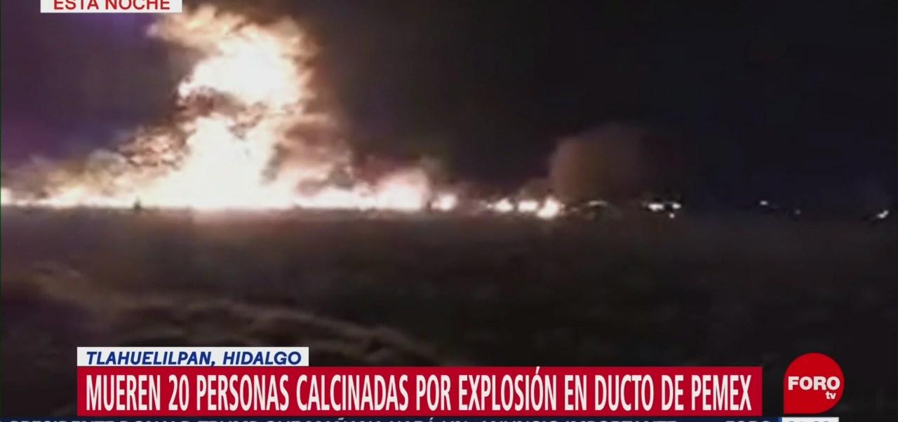 Heridos Muertos Explosión Tlahuelilpan Hidalgo Video