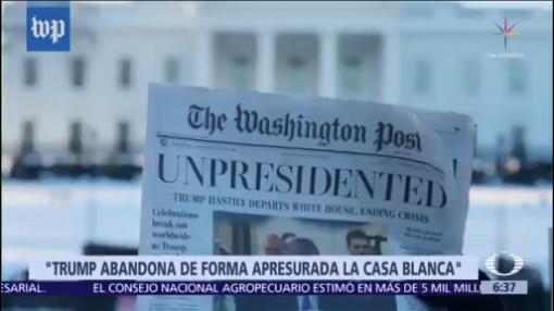 Versión pirata del Washington Post reporta renuncia de Trump