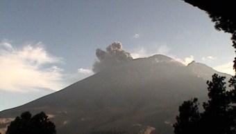 Foto: Volcán Popocatépetl presenta exhalación, 24 de enero 2019