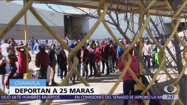 25 maras han sido deportados de Coahuila