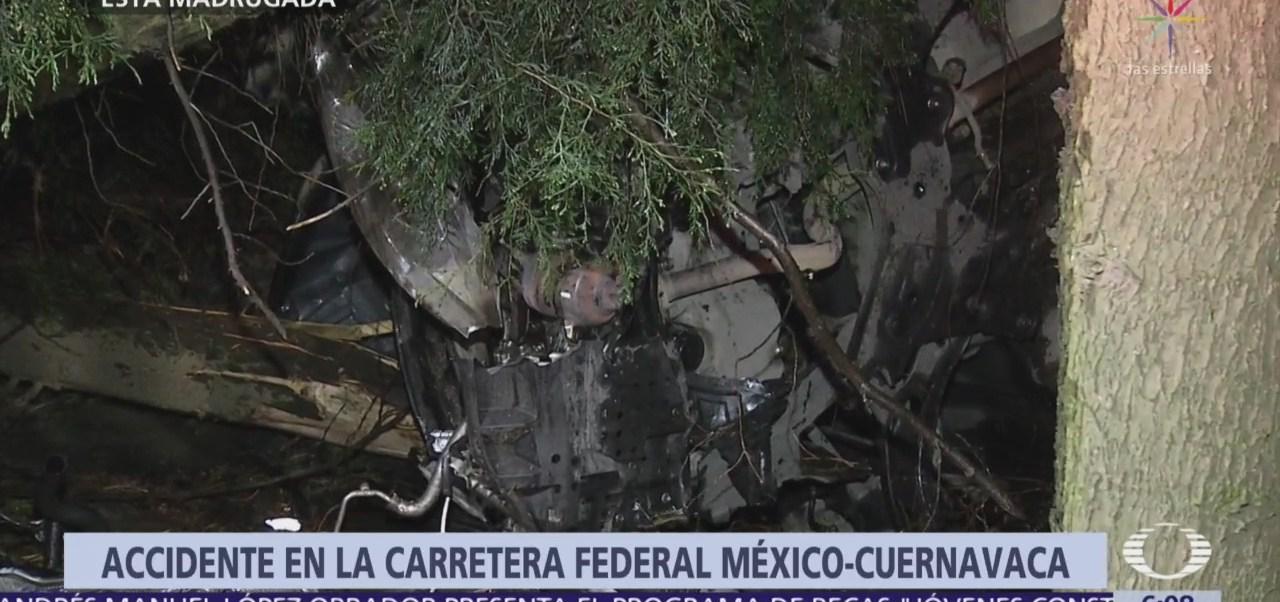 Foto: Accidente en la México-Cuernavaca deja 1 muerto y dos heridos