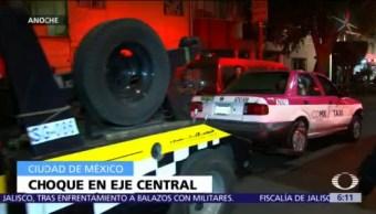 Accidente vial en la colonia Obrera deja cuatro lesionados