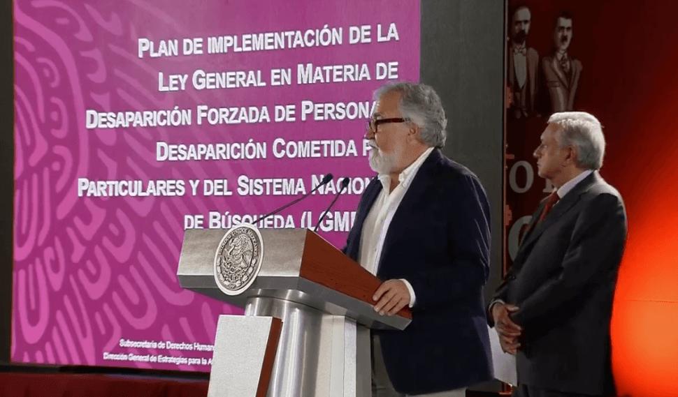 Foto: Alejandro Encinas y Andrés Manuel López Obrador durante conferencia de prensa matutina, 4 febrero 2019, Ciudad de México
