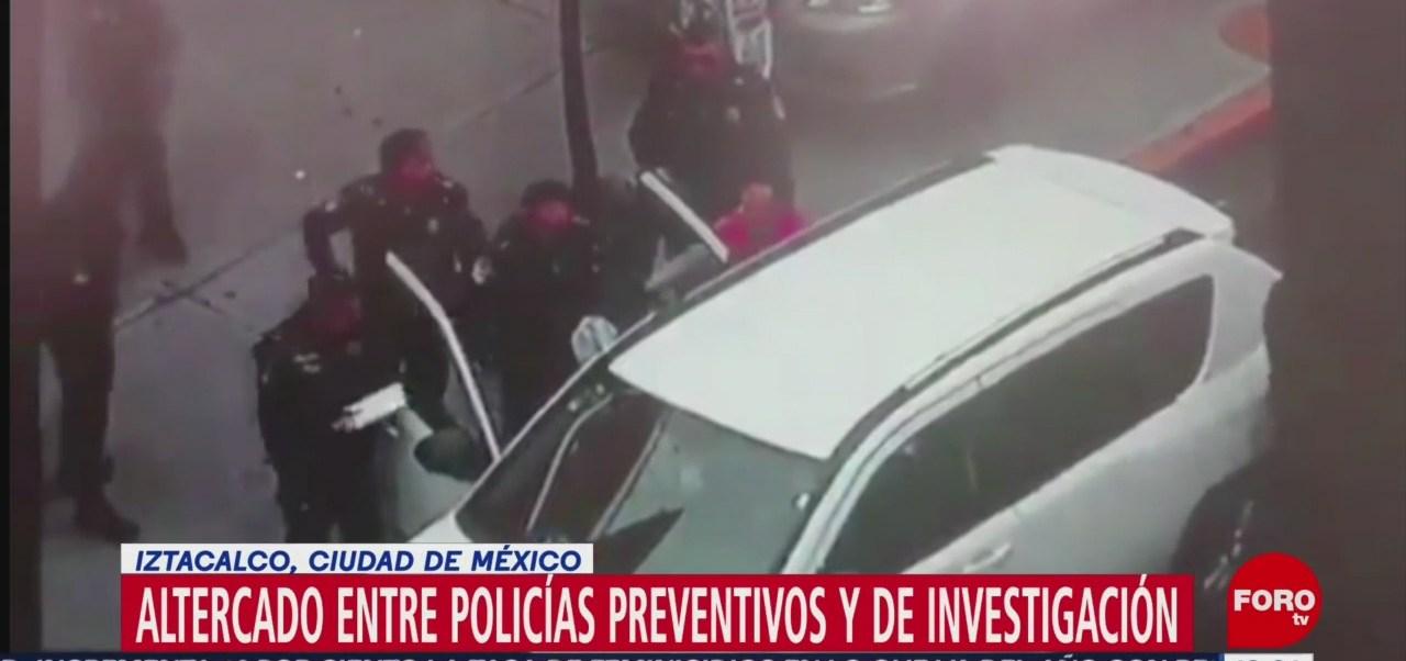 Foto: Altercado entre policías preventivos y de investigación en la CDMX