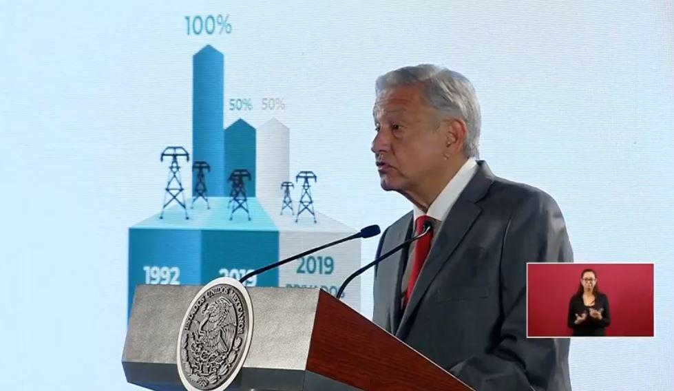 Foto: AMLO anuncia plan para modernizar a la CFE sin elevar costos 11 febrero 2019