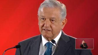 Foto: Andrés Manuel López Obrador, conferencia del 14 de febrero 2019