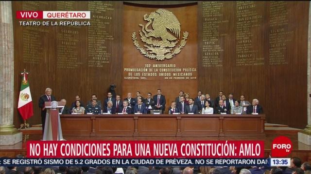 Foto: AMLO encabeza 102 aniversario de la promulgación de la Constitución