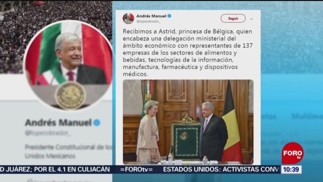 AMLO recibe a la princesa Astrid, de Bélgica