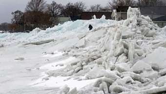 FOTO Tsunami de hielo azota Estados Unidos