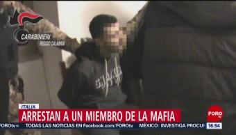 Foto: Arrestan a miembro de la mafia italiana
