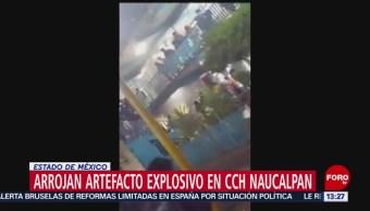 Foto: Arrojan artefacto explosivo en CCH Naucalpan
