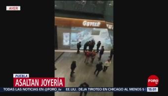 FOTO: Asaltan joyería en centro comercial de Puebla, 16 febrero 2019