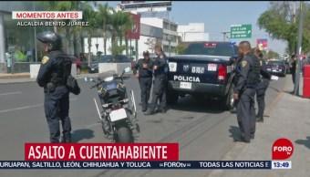 Foto: Asalto a cuentahabiente en alcaldía Benito Juárez