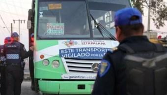 implementan falso operativo para inhibir asaltos en transporte publico en iztapalapa