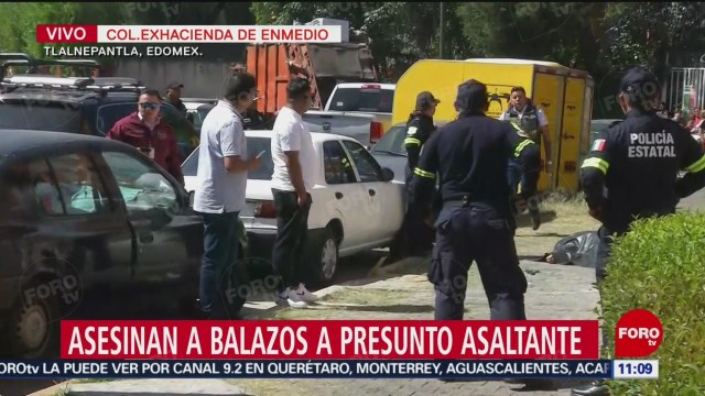 Asesinan a balazos a presunto asaltante en Tlalnepantla, Edomex