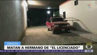 Asesinan a hermano de 'El licenciado', en Culiacán, Sinaloa