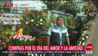 Foto: Aumenta venta de flores por el Día de San Valentín