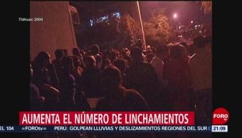 Foto: Cifras Linchamientos México 8 de Febrero 2019