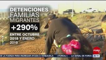 Foto: Detención Familias Migrantes Frontera México 8 de Febrero 2019