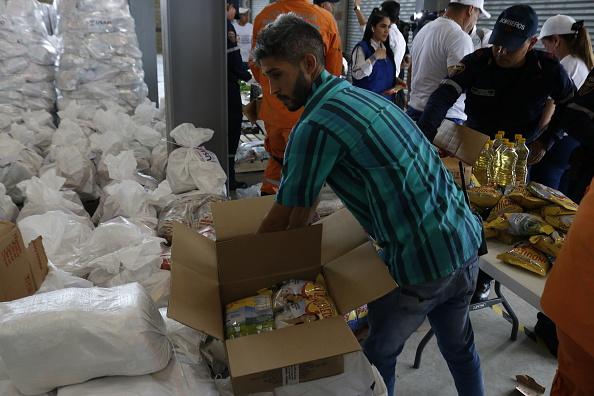 Foto: La ayuda humanitaria para Venezuela que se acopia en la ciudad colombiana de Cúcuta, 10 febrero 2019
