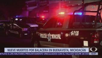 Balacera en Buenavista, Michoacán, deja varios muertos