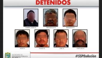 Foto: Detienen a grupo delictivo 'Los Richard' en Puebla, 11 de febrero 2019. (Twitter @FiscaliaPuebla)