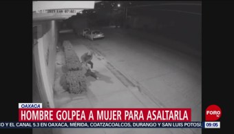 Cámaras captan asalto con violencia en Oaxaca