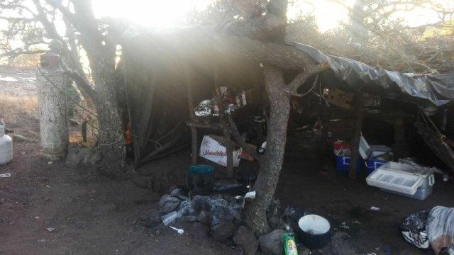 Foto: Campamentos desmantelados de grupos delictivos en Chihuahua, 25 de febrero 2019 (Noticieros Televisa)