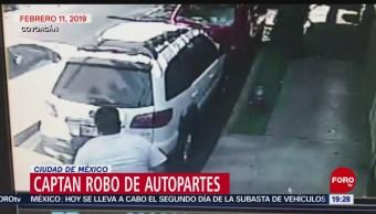 FOTO: Captan robo de autopartes en la Ciudad de México, 24 febrero 2019