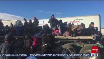Foto: Caravana migrante cruza por Guanajuato