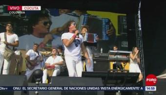 Foto: Carlos Vives en concierto de apoyo a Venezuela