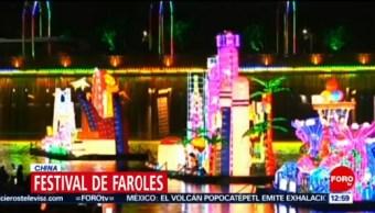 China celebra Festival de Faroles; danzan en las calles y hacen banquetes