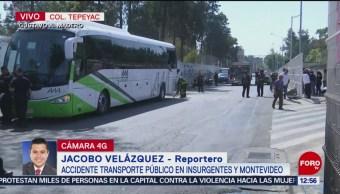 FOTO: Choque deja tres personas lesionadas en avenida Montevideo, CDMX, 4 febrero 2019