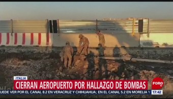 Foto: Cierran aeropuerto por hallazgo de bomba