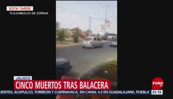 Foto: Cinco Muertos Balacera Jalisco 8 de Febrero 2019