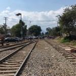 Foto: CNTE libera vías férreas en Caltzontzin, Michoacán, 11 de febrero 2019. Twitter @Silvano_A