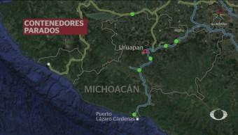FOTO: CNTE mantiene bloqueo férreo en Uruapan, Michoacán, 4 febrero 2019