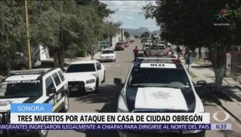 Comando armado ataca vivienda y deja 3 muertos