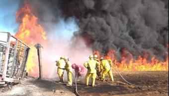 Foto: Continúan los trabajos para controlar el incendio (PC Puebla)
