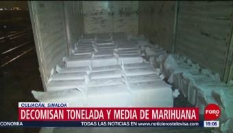 Foto: Decomisan Marihuana Vagón Del Tren Culiacán 14 de Febrero 2019