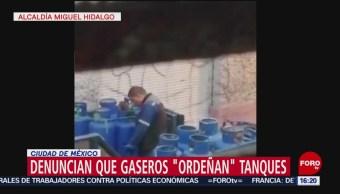 Denuncian que repartidores de gas LP ordeñan tanques en CDMX
