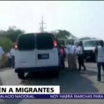 Detienen a 110 migrantes centroamericanos en Chiapas