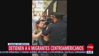 FOTO: Detienen a migrantes en CDMX por consumir marihuana, 16 febrero 2019
