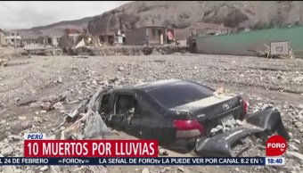 Foto: Diez muertos por lluvias en Perú
