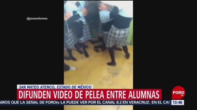 Foto: Difunden video de pelea entre alumnas San Mateo Atenco