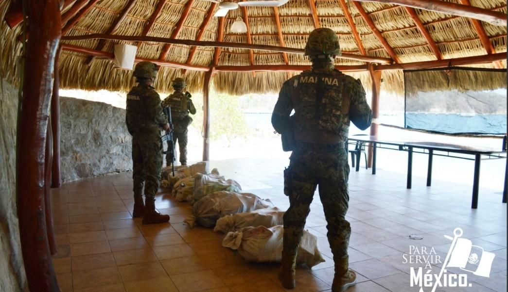 Foto: Cocaína asegurada en costas de Oaxaca, 5 de febrero 2019. Twitter @SEMAR_mx